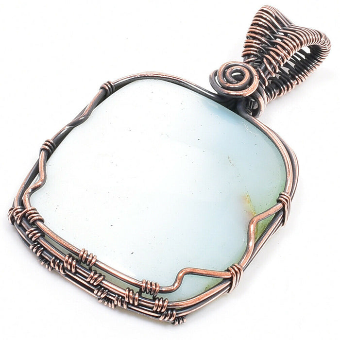 LARIMAR Copper Wire Wrapped Pendant - Gemwaith