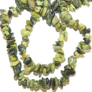 Yellow Serpentine Gemstone Chip Bracelet - Gemwaith
