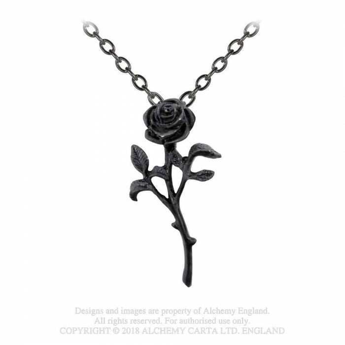 Alchemy The Romance Of Black Rose Pendant - Gemwaith