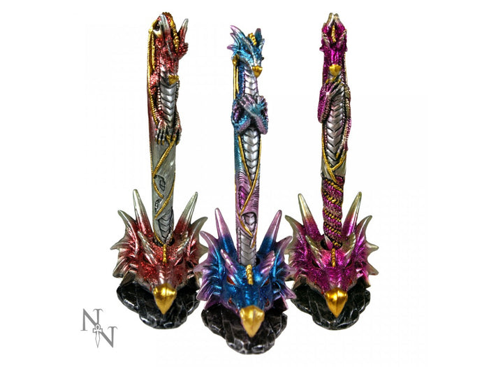Dragon Pen & Holder 16.5cm - Gemwaith