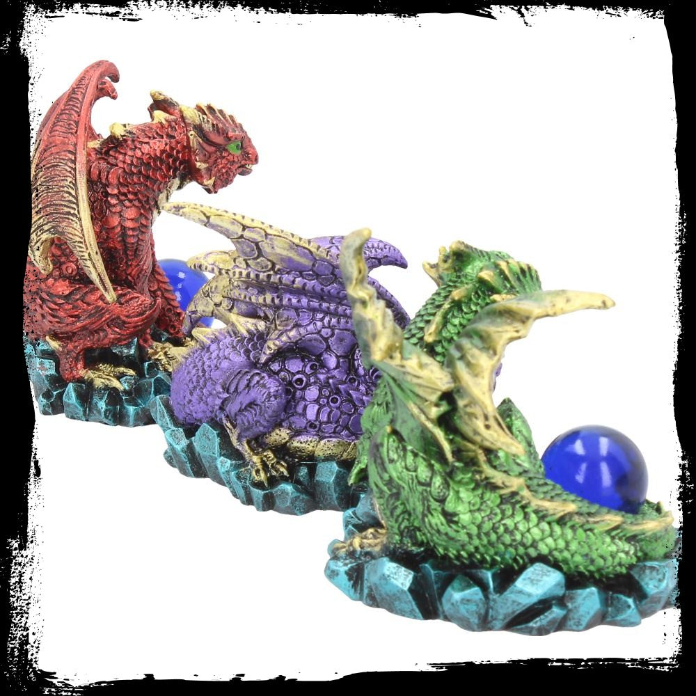 Dragons Watching Their Hoard - Set of 3 - 9cm - Gemwaith