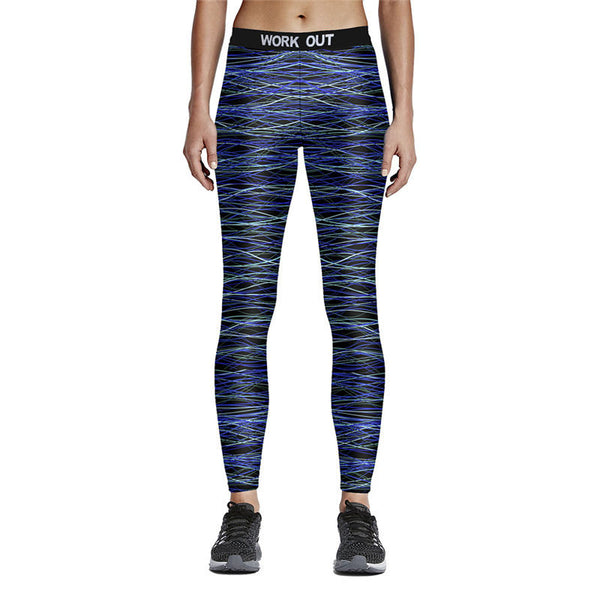 """Work Out"" Elastic Workout Leggings"