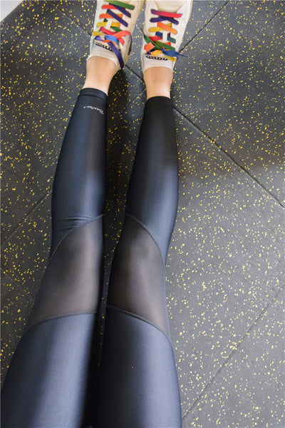 Mesh Splice Leggings