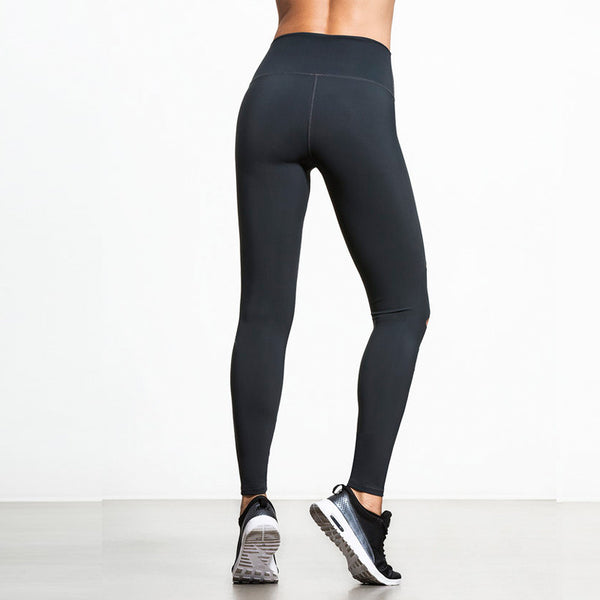 Hollow Hole Black High Waisted Leggings