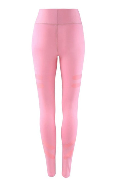 Quick Dry High Waist Parallel Strips Leggings