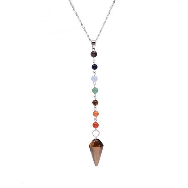 7 Chakra Beads Chain Natural Stone Spiritual Necklace