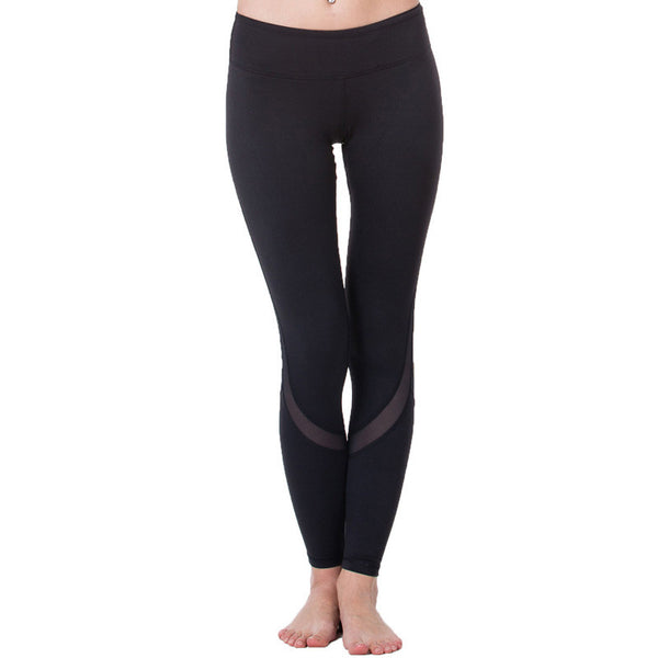 Diagonal Mesh Yoga Leggings