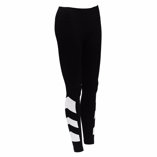 High Waist Side Design Elastic Yoga Leggings