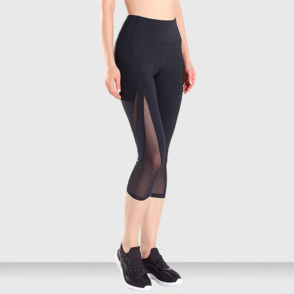 Mesh Patchwork High Waist Yoga Leggings