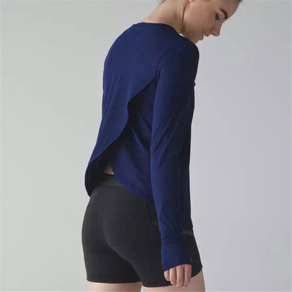 Elastic Long Sleeve Yoga Cover Up