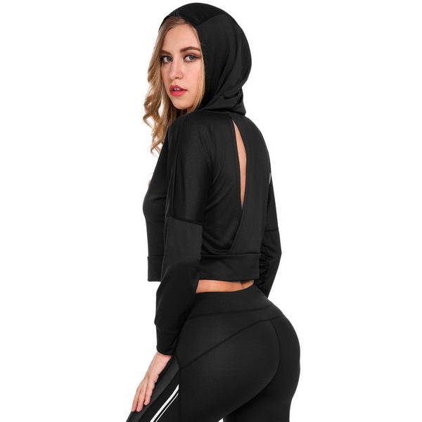 Long Sleeve Quick Dry Workout Hoodie