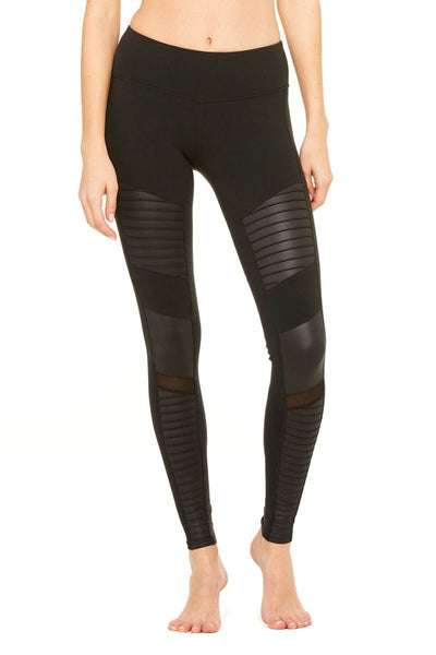 Pleated High Thigh Mesh Patchwork Leggings