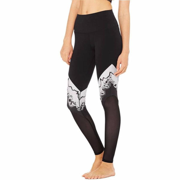Print Patchwork Elastic Yoga Leggings