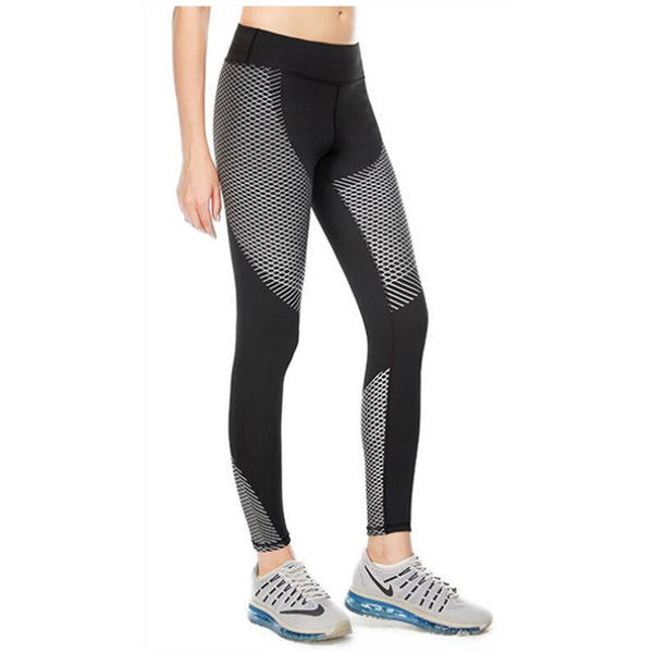 Strip Print Quick - Drying Compression Leggings