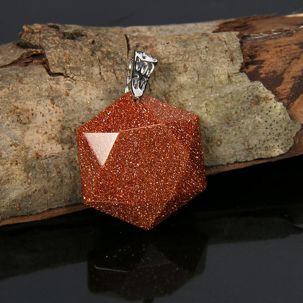 Natural Stone Crystal Pendant