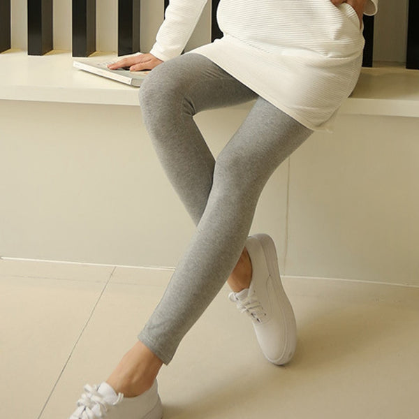 Maternity Solid Modal Elastic Yoga Leggings