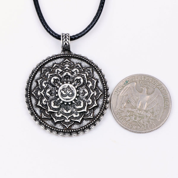 Yoga Inspired Lotus Flower Pendant Necklace