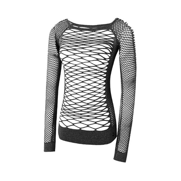 JNC Mesh Hollow Out Yoga Top