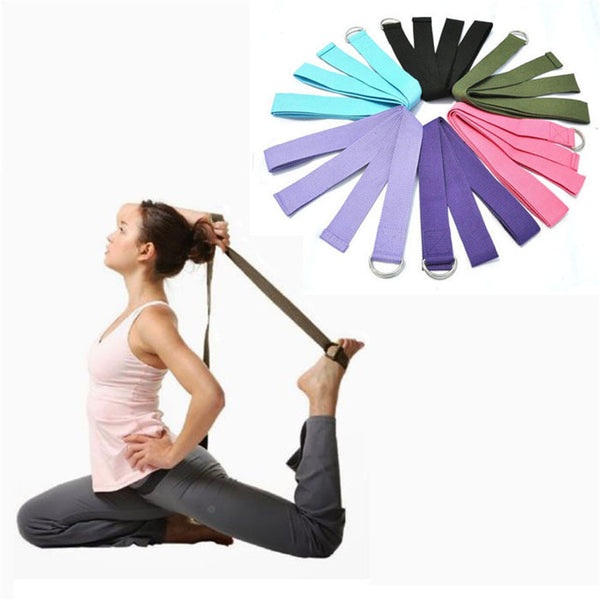 Yoga Stretch Strap w/ D-Ring