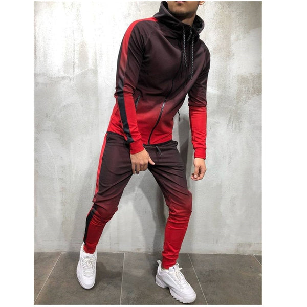 Men's Fade Jogging Sports Suit