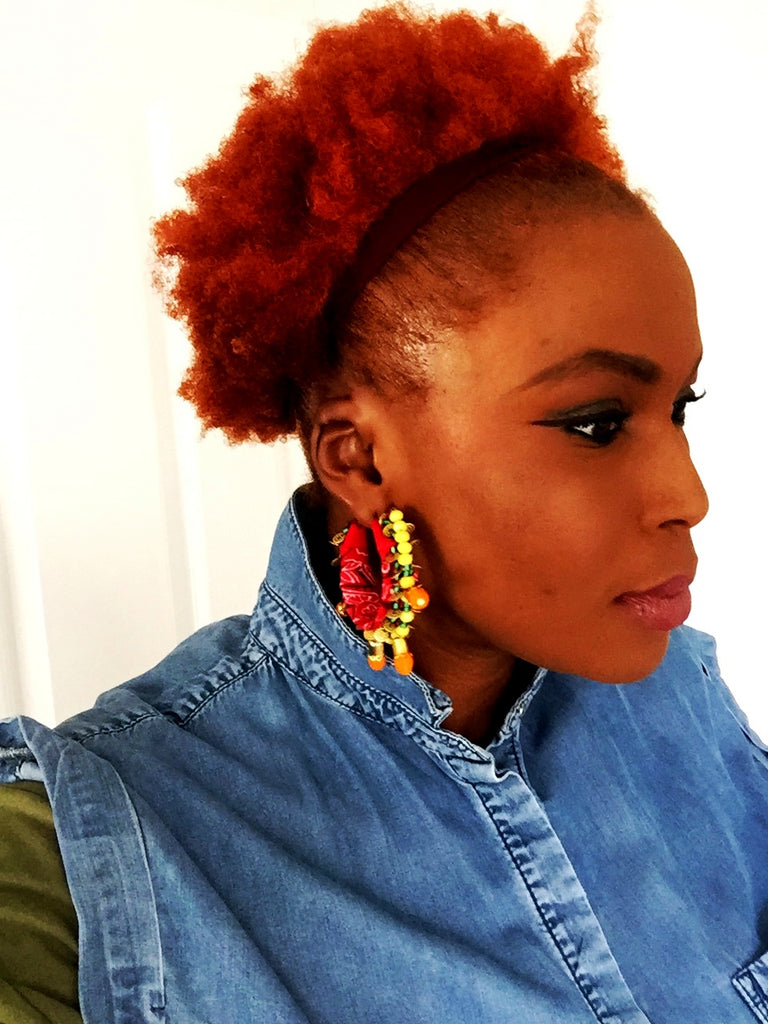 DIY Bandana Hoop Earrings