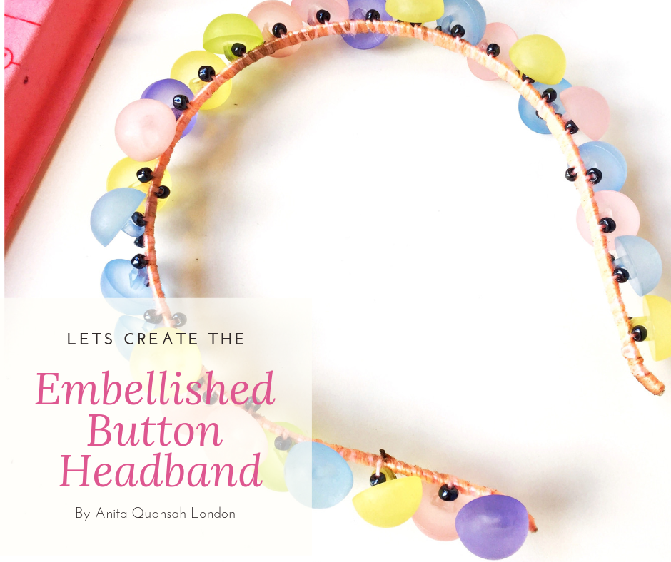 Button Embellished Headband - DIY Project For Girls