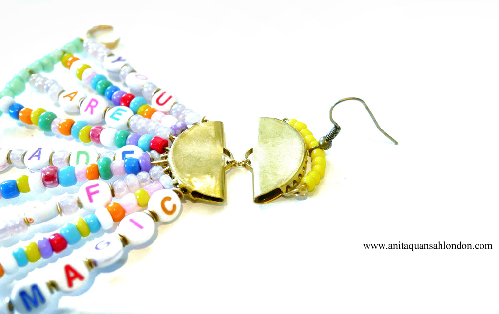 How To Make A Beaded Alphabet Earrings Affirmation earrings