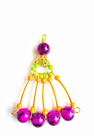 Multi-Beaded Fan Earrings - DIY Project For Girls