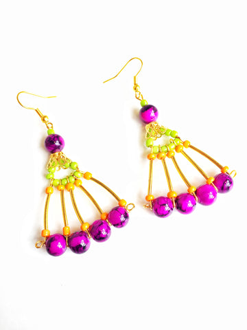 Fan Earrings By Anita Quansah London