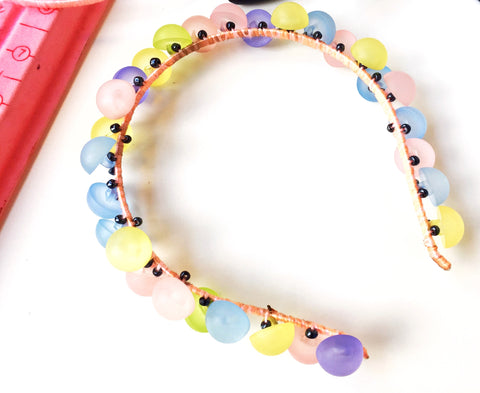 Button Embellished Headband-DIY Project For Girls By Anita Quansah London