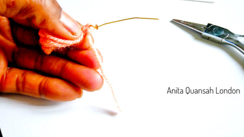 How To Make The Hex Nuts/Bolt Stud Earrings By Anita Quansah London