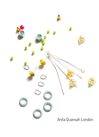 How To Make The Hex Nuts/Bolt Tassel Stud Earrings By Anita Quansah London