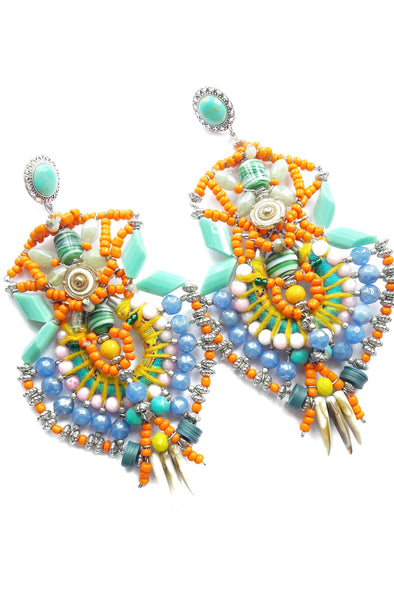 Amarena Beaded Statement Earrings