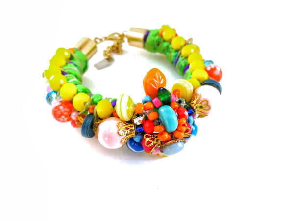 Damara Multi-Stone Beaded Bracelet Anita Quansah London