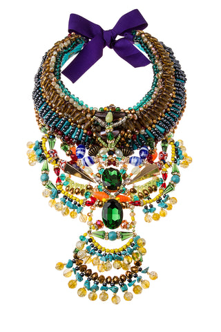 Raya Swarovski Beaded Necklace