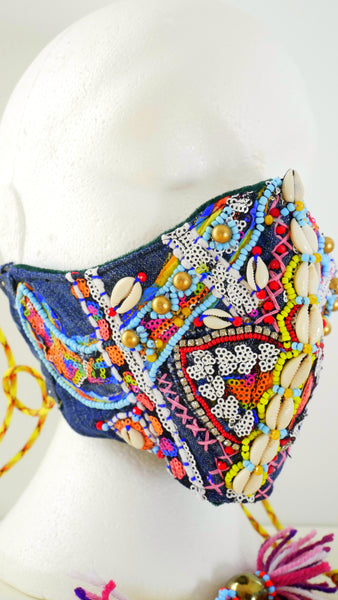 Anwuli Embellished African Inspired Beaded Art Face Mask