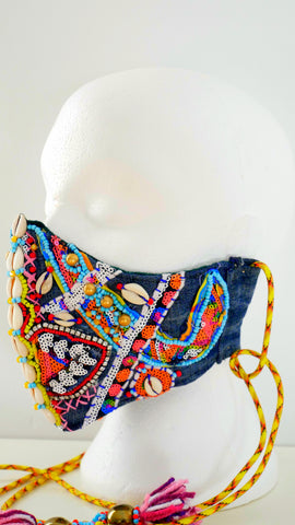 ANWULI WASHABLE BEADED ART FACE MASK