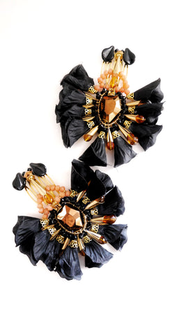 Aleiah Beaded Set Of Two Flower Hair Comb By Anita Quansah London