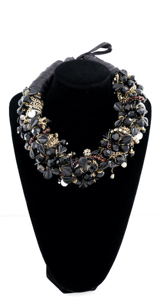 Anthea Flower- Cluster Multi-Beaded Necklace by Anita Quansah London