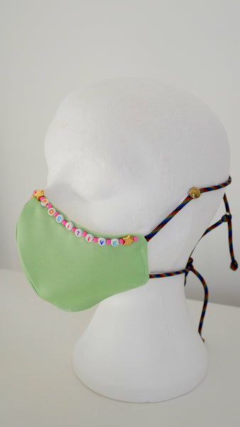 Beaded Washable, Reusable, Affirmation Face Mask