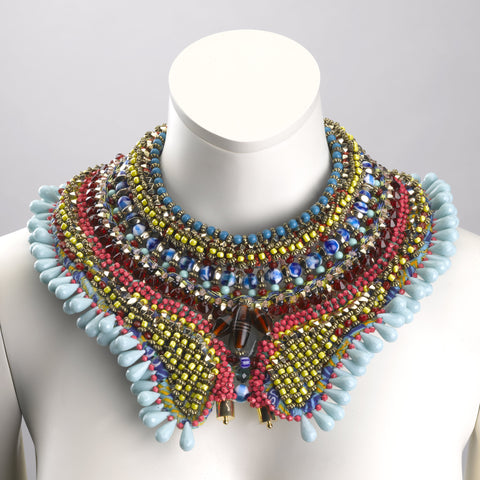 Bexley Multi Beaded Statement Necklace