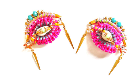 Binta, 'Yes, I See You' Set Of Two Embellished Hair Slides