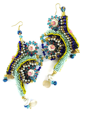 Aziza Beaded Statement Earrings