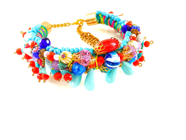 Greer Embellished Multi-Beaded Bracelet
