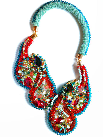 Cotia Swarovski-Embellished And Gemstone Necklace