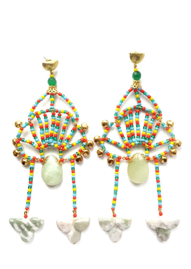 Tilbury Beaded Drop Earrings By Anita Quansah London