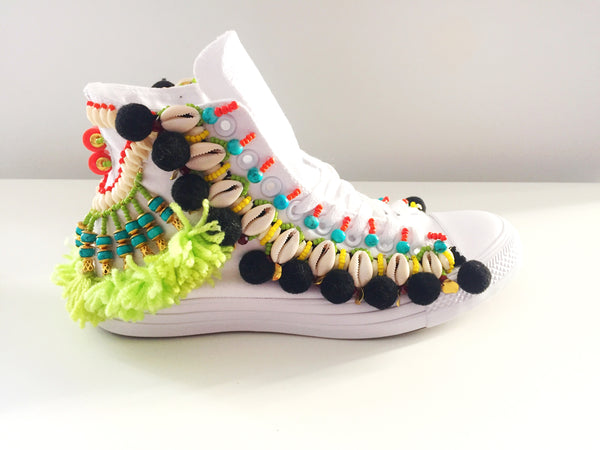 Odell Beaded Embellished  Chuck Taylor  All Star High Top Converse