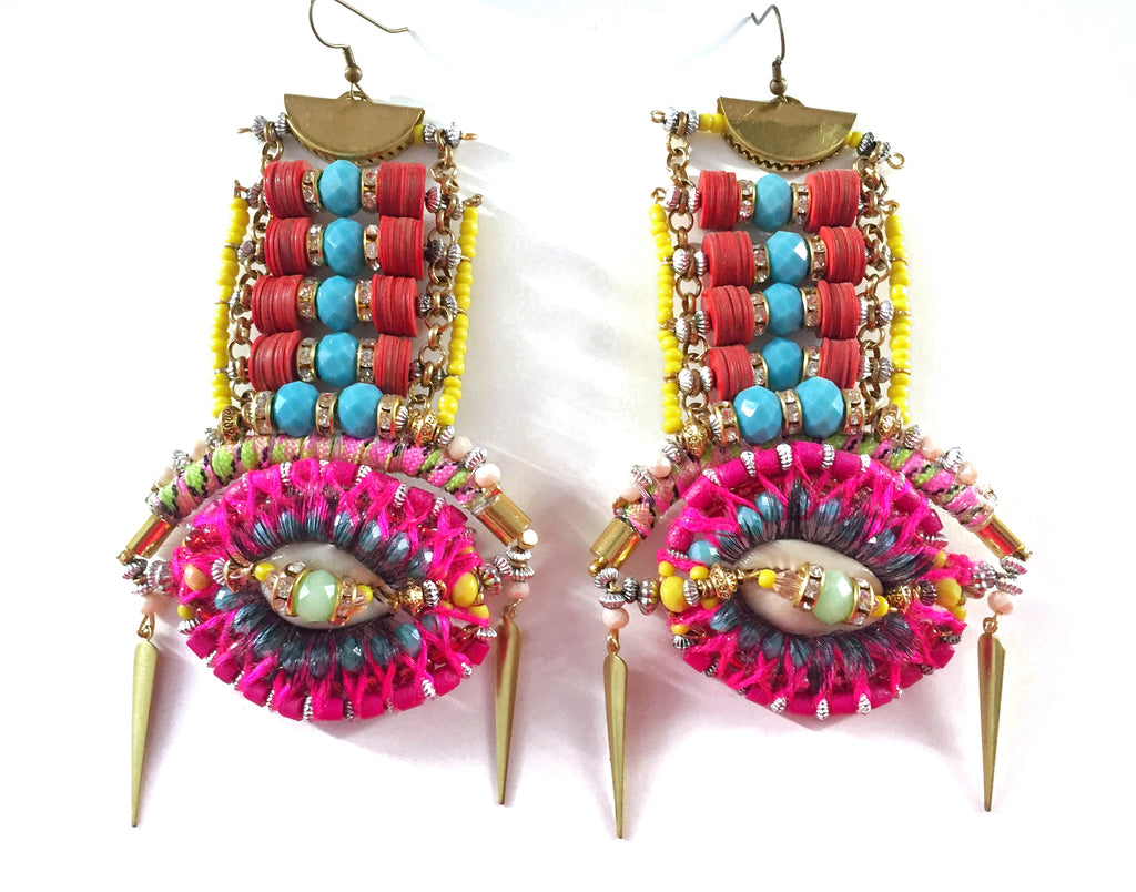 Carina Embellished Statement Earrings