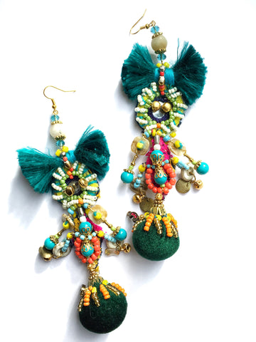 Colel Embellished Drop Earrings