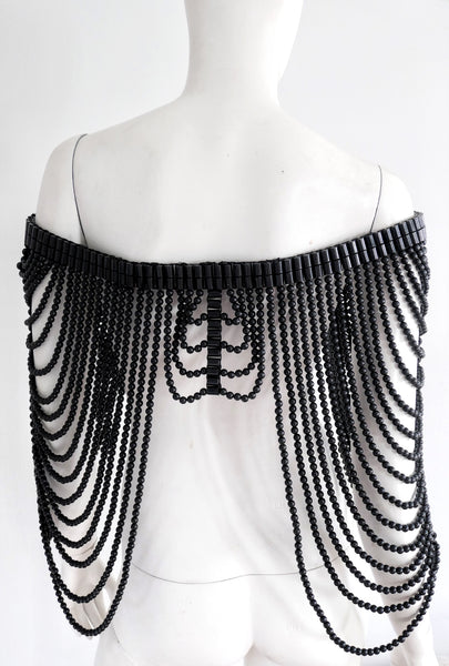 Helge Beaded Black Body Jewellery